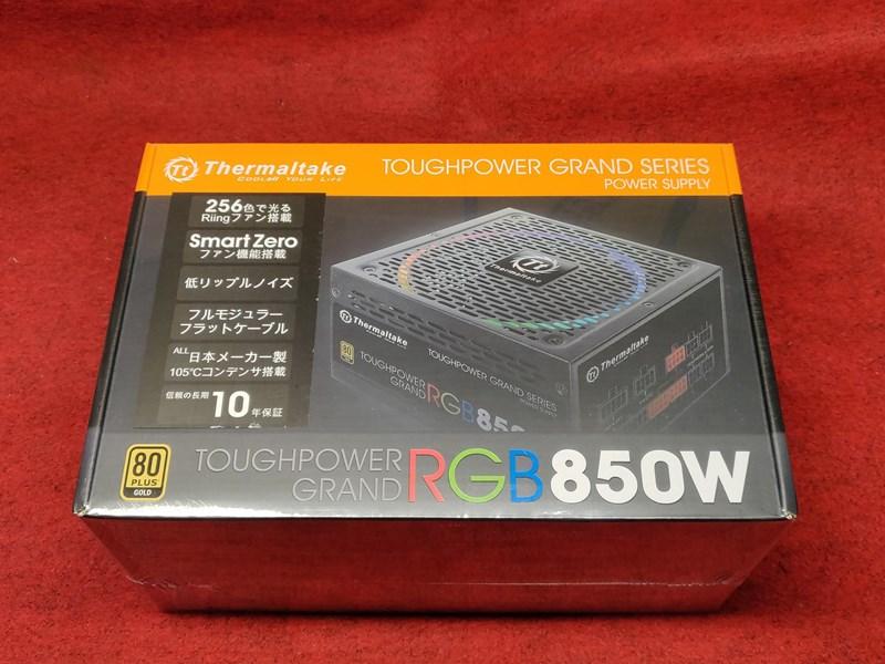 Thermaltake TOUGHPOWER GRAND RGB 850W電源を購入しました。