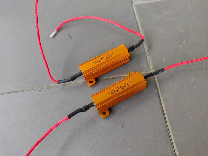 LED ウインカー ハイフラ防止 抵抗器(12V 50W 6Ω)2個 【RAV4】
