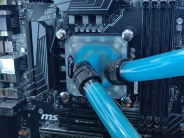 水冷CPUブロック交換。